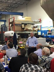Pete Sessions talking with business owners in North Texas