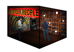 Spider People space (ambergriffiths) Tags: immersive immersivedesign exhibitiondesigns photoshop exhibition sideshows blackpool blackpoolsideshows
