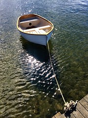 Tiny beautiful dinghy. Copper Alley Bay.