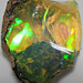 Hydrophane opal (precious opal) immersed in water (Tertiary; Ethiopia) 4