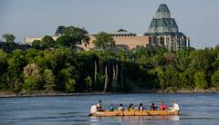 Canoe in the shadow of Parliament : May 29, 2015 (jpeltzer) Tags: ottawa nationalgallery canoe ottawariver
