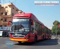 Volvo BRT Upgrade 7300 Biarticulado Metrobus (infecktedbusgarage) Tags: mexico volvo df camion upgrade ciudaddemexico brt metrobus cisa busrapidtransit articulado mexicanbus biarticulado 7300brt volvo7300