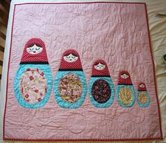 Matryoshka. (grammardog) Tags: dolls babies crafts sally gifts quilting quilts matryoshka nestingdolls russiandolls matreshka thingsimade russiannestingdolls