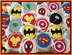 Superhero cupcakes by Angela, Linn County, IA, www.birthdaycakes4free.com