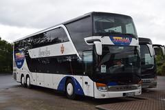 AB ST133  Stewa Reisen, Kleinostheim, Germany (highlandreiver) Tags: bus green germany scotland coach reisen scottish ab gretna german tri coaches axle setra kleinostheim stewa st133 abst133