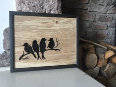 A birdy landscape... A recent commission ready to send to the customer