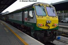 222 at Heuston, 18/7/15 (hurricanemk1c) Tags: dublin irish train gm rail railway trains railways irishrail 222 201 generalmotors heuston 2015 emd iarnród éireann iarnródéireann 2100heustoncork