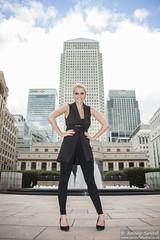 2015_07_30 Georgia W 468 WM (Sendall) Tags: portrait sexy london tower fountain beautiful beauty fashion skyscraper gorgeous location blonde stunning editorial canarywharf androgyny androgynous isleofdogs