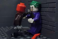 I'm Not Scared of You (MrKjito) Tags: lego minifig batman red hood joker under jason todd not scared robin dc comics comic super hero antihero villain