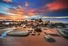 Kura-Kura (SeattleHVAC172) Tags: sky sunset water beach rocks indonesia sand seascape long exposure 1635 singkawang kalbar canon 6d nisi filters