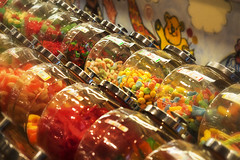 Candy Store (DJ Wolfman) Tags: candy candyjar candystore olympus olympusomd em5ii 1240mmf28 1240mmf28olympus micro43 yellow red jars