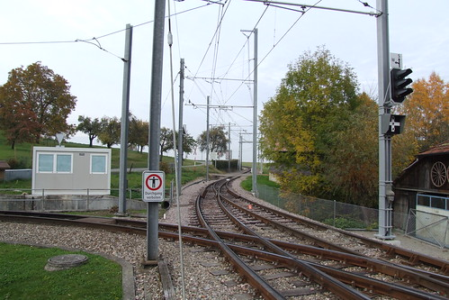 Tram tracks heading towards France, 29.10.2011.