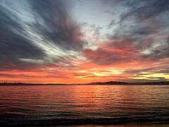 Sunset Drama (Greg Vierra) Tags: sunset drama clouds oranges golds textures likeapainting goldengagebridge angelisland sanfranciscoskyline sutrotower shipdepartingthesanfranciscobay marinheadlands