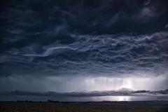 Formas sobre el agua [Explored!] (emiliokuffer) Tags: nube cloud sky rayo lightning tormenta storm stormscape nikon d610 wide landscape paisaje argentina oroverde campo countryside field rain lluvia