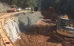 Train line construction project - Coffs Harbour (Ground Stabilisation Systems) Tags: civilengineering coffsharbour groundstabilisation retainigsystem construction geotech