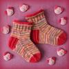 Piggy socks for Mimmi (*blythe-berlin*) Tags: tierischereste12für17 socken socks reste leftovers pink schweinchen pig piggy
