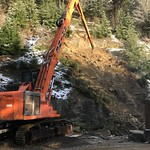 Christmas Eve rock removal northbound I-5 Whatcom County thumbnail