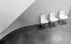 Take A Seat (DobingDesign) Tags: blackandwhite curve abstract contrast chairs shadow texture walls minimalism