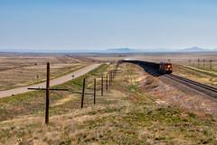 The Road Less Traveled (Wheelnrail) Tags: bnsf raton subdivision railroad train ge new mexico locomotive remote desert ballast herzog burlington northern santa fe