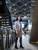 Laura, The Hague 2016: Looking up (mdiepraam) Tags: laura thehague denhaag 2016 centraal station portrait pretty beautiful gorgeous attractive elegant classy dutch brunette woman lady girl naturalglamour dof boots dress scarf