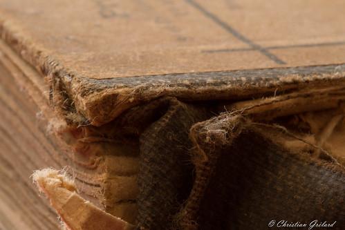 Old book peeling