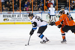 "Missouri Mavericks vs. Wichita Thunder, February 3, 2017, Silverstein Eye Centers Arena, Independence, Missouri.  Photo: John Howe / Howe Creative Photography • <a style=""font-size:0.8em;"" href=""http://www.flickr.com/photos/134016632@N02/32561314422/"" target=""_blank"">View on Flickr</a>"
