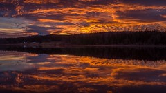 Fire and Water (writing with light 2422 (Not Pro)) Tags: mountrainier volcano stratovolcano dawn fireandwater lenticularcloud washingtonstate richborder rapjohnlake reflections lake sky landscape paulrodgers