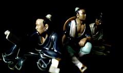 oriental trio of mud men (thomas morrow2012) Tags: china chinese figurines bonsai oriental penjing shiwan