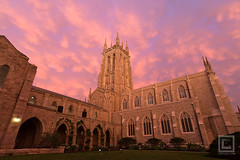 Mammatus Clouds over Bryn Athyn Cathedral at Dusk (Cary Liao) Tags: sunset sky church dusk pennsylvania places pa montgomerycounty mammatusclouds nohdr brynathyncathedral caryliao brynathynchurch brynathynhistoricdistrict landmarksinlights2015