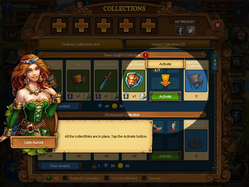 The Tribez & Castlez - Play with friends! Collections: screenshots, UI