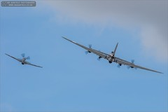 Bomber and Escort (Ian Garfield - thanks for over 1 Million views!!!!) Tags: show b field canon vintage naughty airplane ian photography flying outdoor memphis aircraft smoke air sally airshow b17 legends duxford belle vehicle boeing bomber garfield fortress warbird 2015 b17g avgeek bedf gbedf 124485 5d3