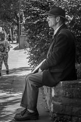 Waiting (markuskrause30) Tags: street kln hut sw mann rheinufer monocrome