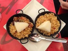 Tapas (Micheo) Tags: comida tapas food bread pan migas melon bar montefrío tapitas cuchara spoon sarten