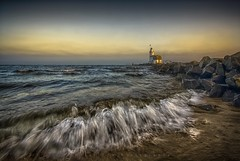 Marken Lighthouse (Karel Ton) Tags: marken paard van lighthouse sea beach ocean water seashore seascape landscape wave waves sky rocks tide vuurtoren holland scenic karel ton tourism travel