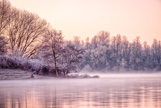 Cold dawn at the river 1