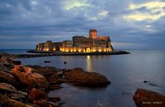 The beautiful Castle (Arcieri Saverio) Tags: castle castello lecastella crotone kr landscapes medieval calabria sud meridione italia mer mare blue blu orablu bluehour 500