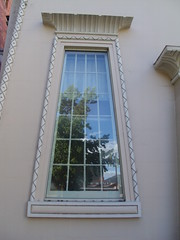 Hobart. Egytptian style window in Australias oldest Jewish synagogue built in 1845. (denisbin) Tags: hobart tasmania salamancaplace cottage batterypoint egyptianstyle jewishsynagogue synagogue cosmos governmenthouse derwentriver temple ladyfranklin greektemple classical