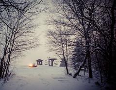sunday-3070 (FarFlungTravels) Tags: winter ski skiing laurelhighlands pennsylvania reservoir morning sunrise foggy snow squall