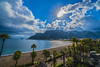 Bright Sun (ramizdirin) Tags: sun palmtree sea clouds beach winter