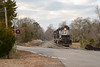Crossing the Highway (ajketh) Tags: ns norfolk southern emd gp382 high hood 5162 5166 catawba sc south carolina resolute bowater paper mill local overnight yard abolished shuttle cureton ferry road freight train railroad grade crossing signals
