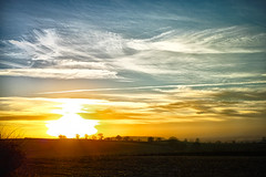 English Sunset (jamesromanl17) Tags: field sky landscape sunset sun clouds cloudscape cloudy england landscapes fields countryside sundown cloud skies farming britain cheshire