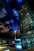 Düsseldorf Medienhafen (st.weber71) Tags: düsseldorf medienhafen fernsehturm hyatt beleuchtet lzb langzeitbelichtung himmel farben nightshot illumination nikon wolken