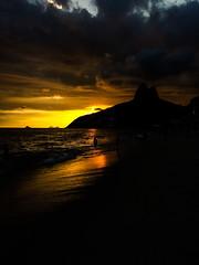 Ipanema, Rio de Janeiro (cacaiony) Tags: beach praias praia rio brazil brasil explore sunset pordosol natureza nature dark sky ceu places tourism sunday