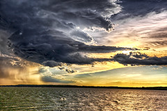 Raindrops (Kansas Poetry (Patrick)) Tags: tornado tornadicweather storm stormclouds thunderstorm kansas lawrencekansas lawrenceks clintonlake patrickemerson patricklovesnancy