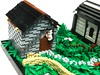 LEGO: Welcome Home (1) (Ferdinand Tunnelley) Tags: lego house moc white background vignette