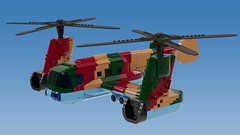 Ishkov Ik-57d (ABS doohickies) Tags: lego ldd render ishkov ik75 helicopter transnistria dc6 aircraft