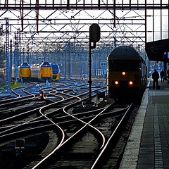 Haarlem, North Holland, Netherlands (pom.angers) Tags: panasonicdmctz10 march 2011 train railway station haarlem northholland netherlands europeanunion 100