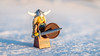 Hooray for the sun! (Reiterlied) Tags: 18 35mm d500 dslr finland lego legography lens minifig minifigure nikon oulu photography prime reiterlied snow stuckinplastic toy viking winter