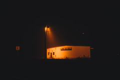 lonely is the night (lauren zaknoun) Tags: conceptual dark darkphotography fog lightpainting lightstreaks longexposure night nightphotography urban massachusetts newengland abandoned abandonedplaces light neonlight eerie