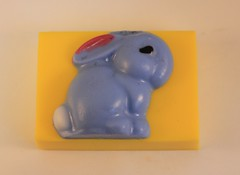 Bunny with Ears Down $4.00 (Clelian Heights) Tags: clelianheights cleliancenter cleliansoaps unscented soaps easter easterbunny